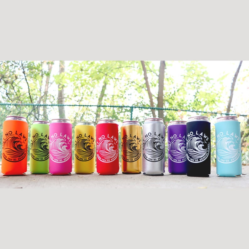 White Claw Can Cooler Slim Can Cooler 12oz And 16oz Etsy Canning Cooler 16oz