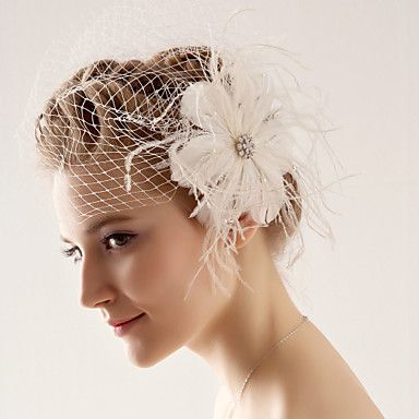 [XmasSale]One Tier Wedding/Special Occasion Blusher Veil(More Colors) - JPY ¥ 1,874