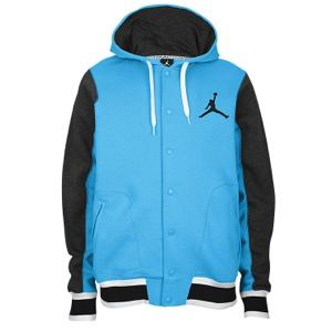 new styles a13cf b77d5 Jordan The Varsity Hoodie 2.0 - Vivid Blue Black White
