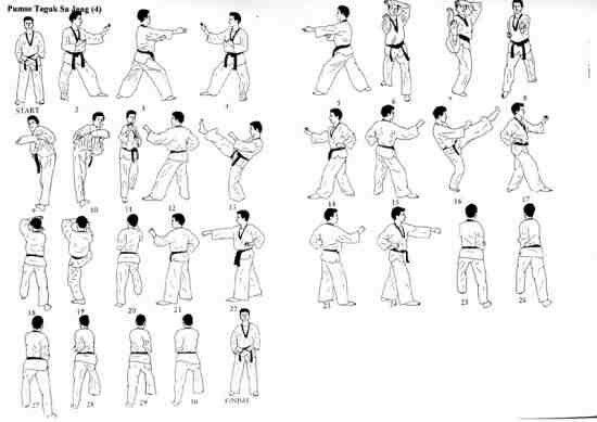 poomse 4 taekwondo