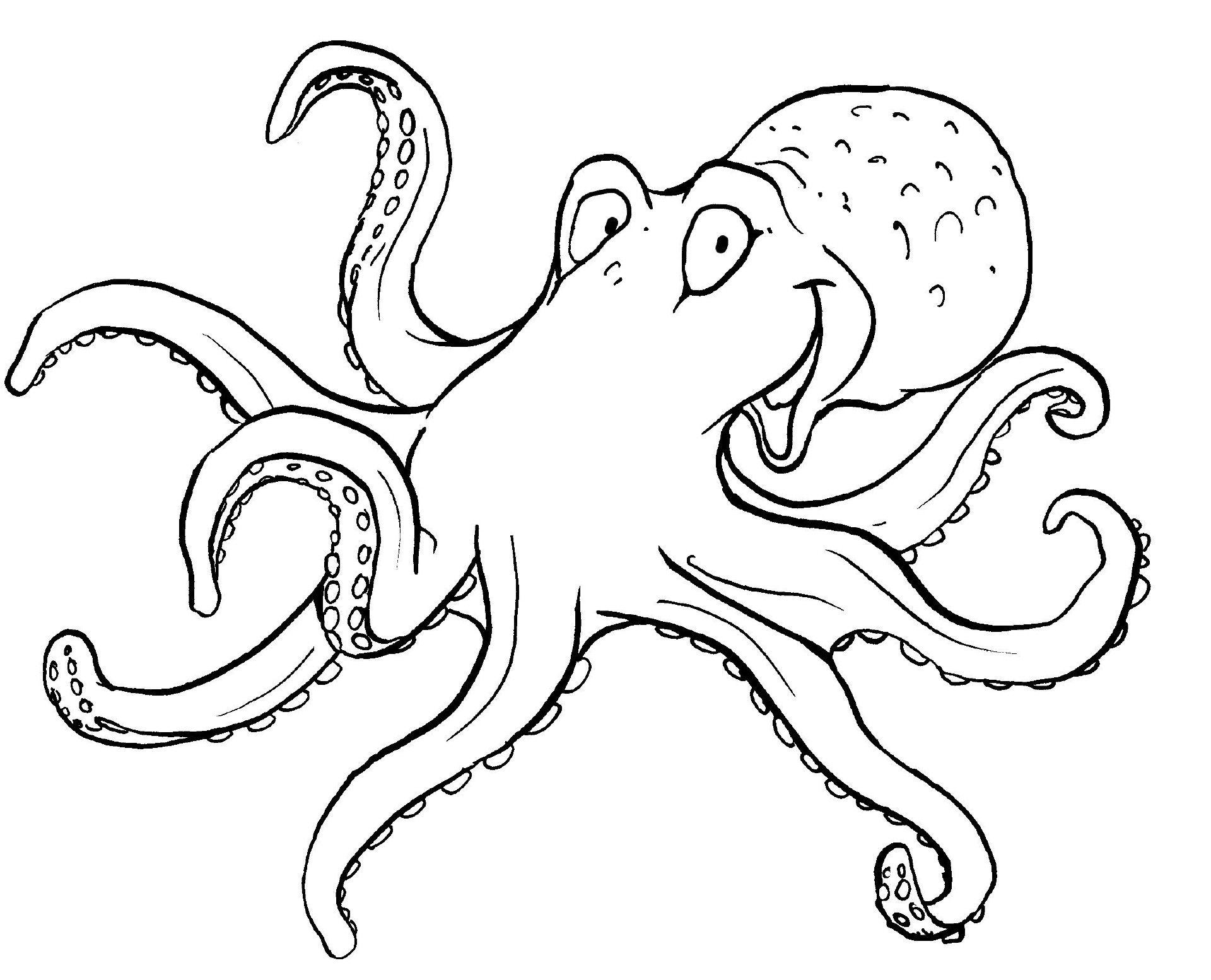Tintenfisch | Ausmalbilder Tiere | Pinterest | Tintenfisch ...