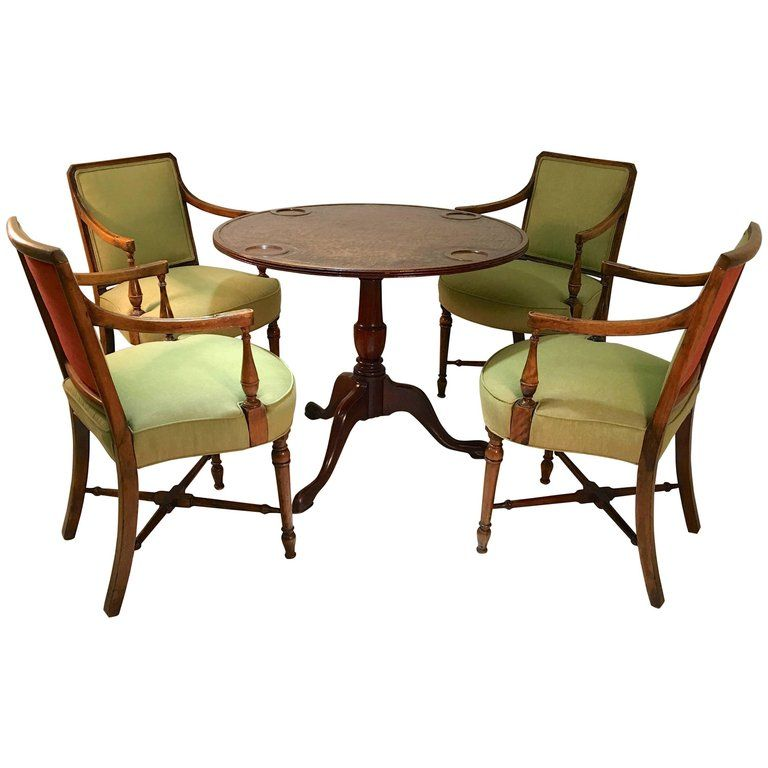 Gaming Table And Four Armchairs