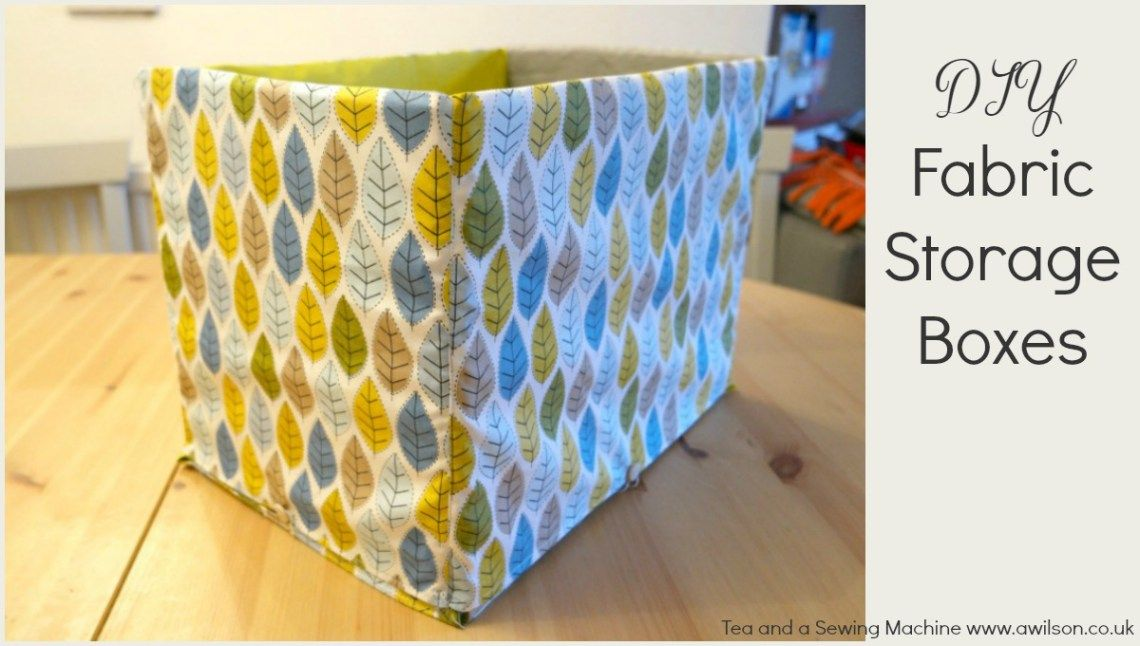 how to sew fabric storage boxes