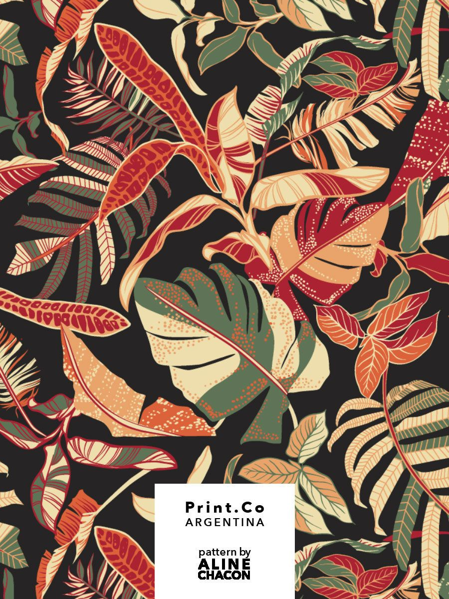 ALINE CHACON — Tropical textile pattern for PrintCo Argentina,... #tropicalpattern