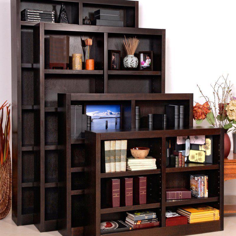 Concepts In Wood Double Wide Wood Veneer Bookcase - MI4836-C