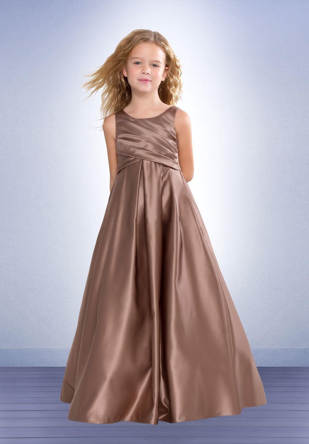 Scoop a line long satin junior bridesmaid dress the closet bridesmaid dresses uk ombrellifo Images
