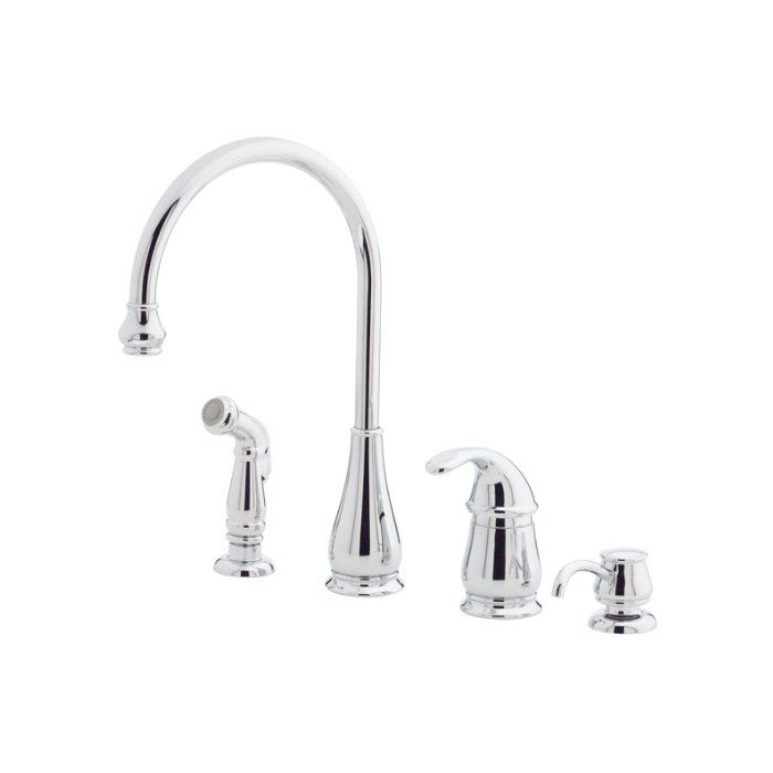 Treviso Single Handle Kitchen Faucet With Side Spray Faucets