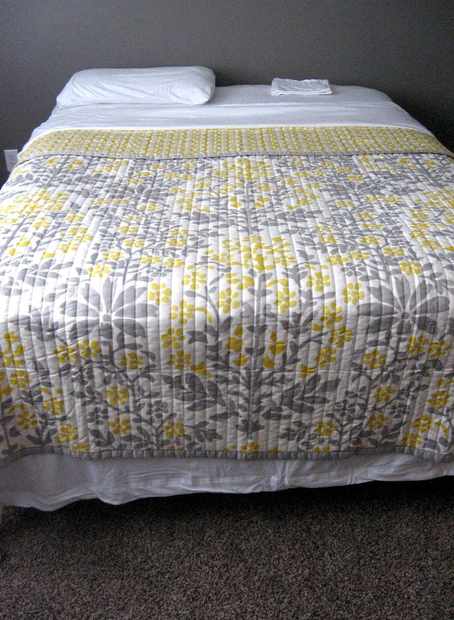 Gray And Yellow Bedding Target | Bedroom Ideas Pictures | Home ... : yellow and gray quilt - Adamdwight.com