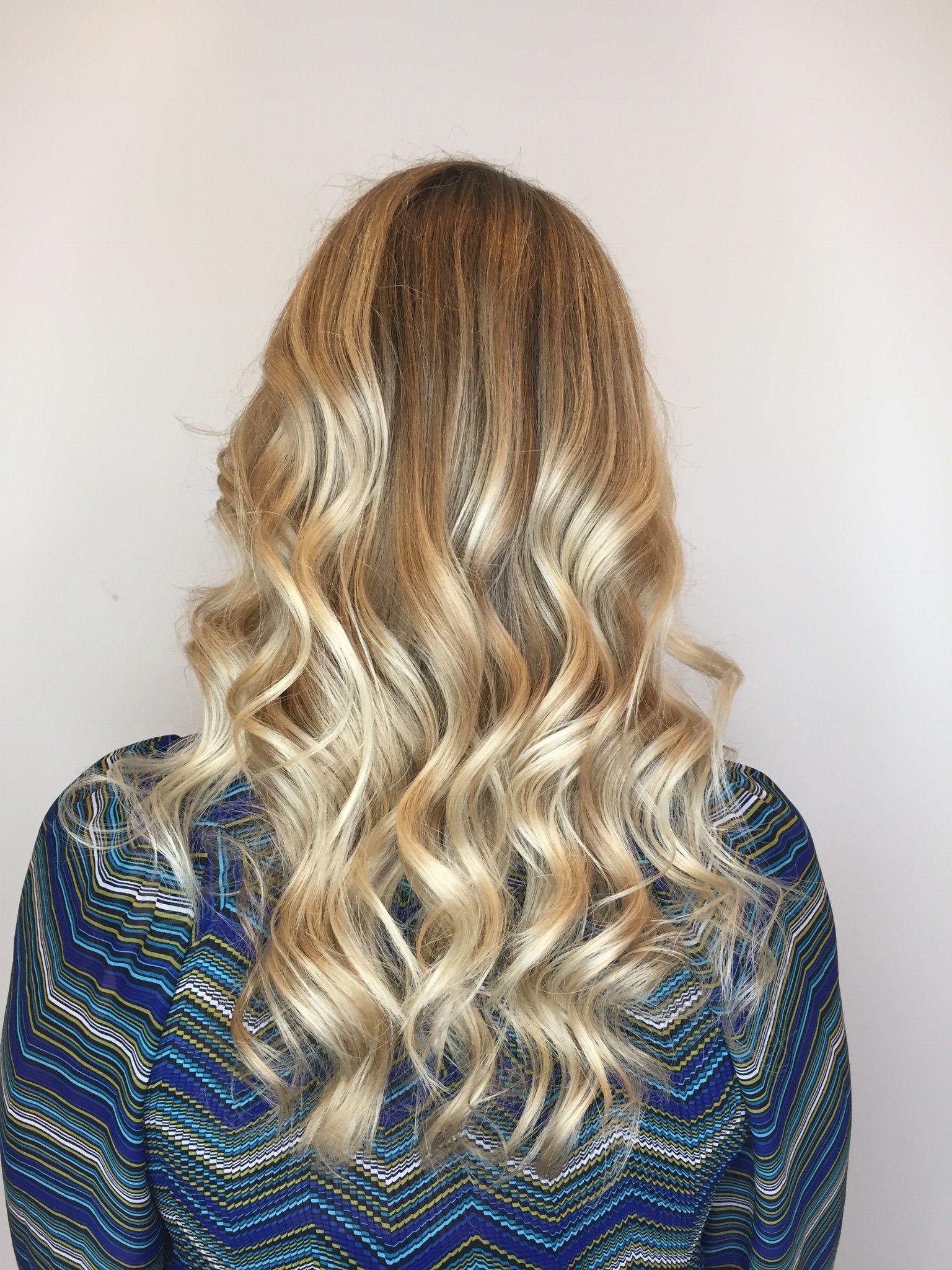 Golden Blonde Blonde Balayage Paintedhair Keune - Haircut missoula