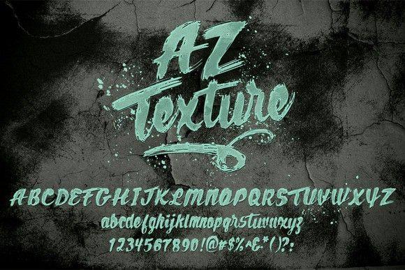 AZ Texture. Script Fonts. $20.00