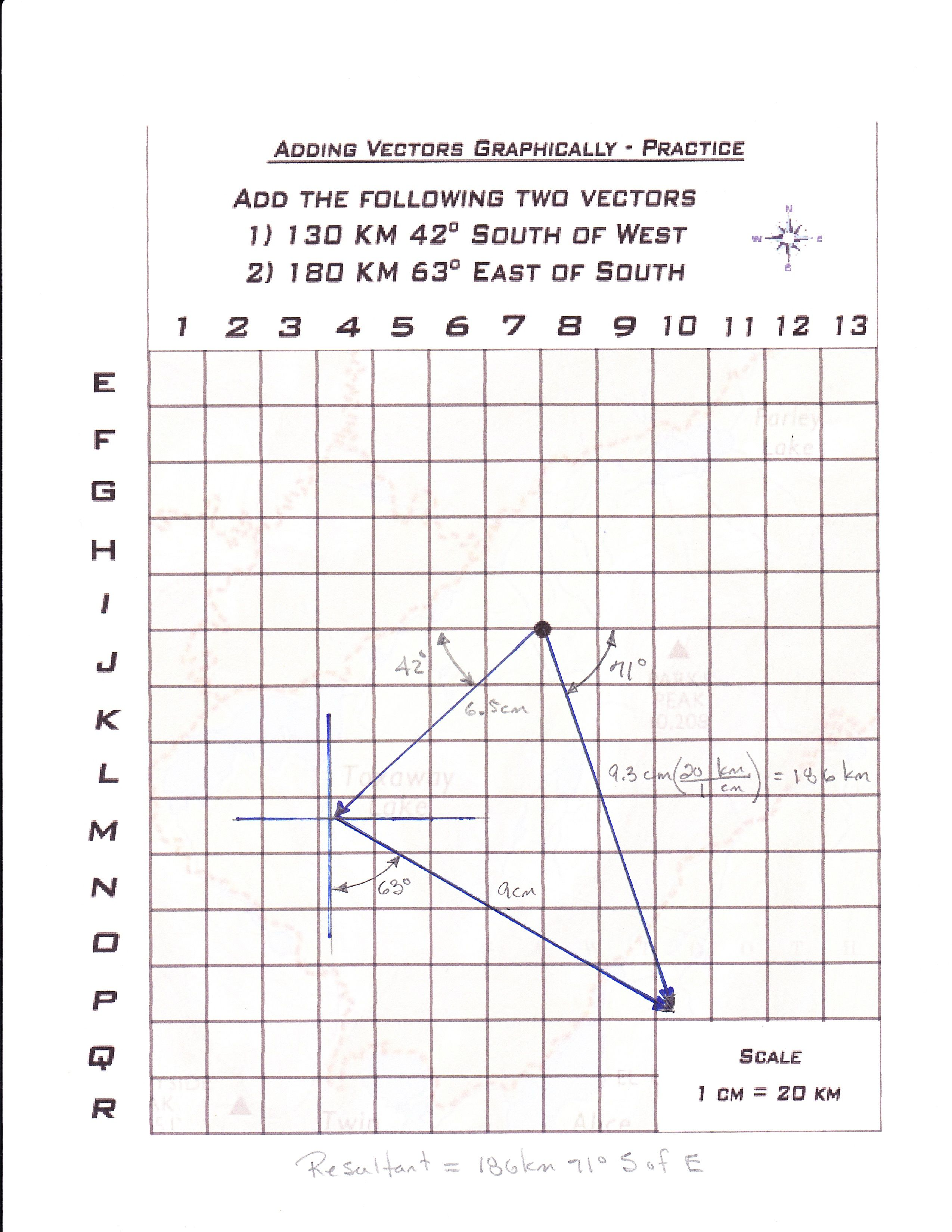 Adding Vectors Handouts The Adding Vectors Handouts Are Designed To Teach Students How To Add Basic Math Worksheets Math Practice Worksheets Worksheet Template Graphical addition of vectors worksheet