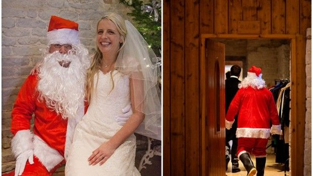 An Elegant Barn, Christmas Wedding... Of course you have to have Santa!