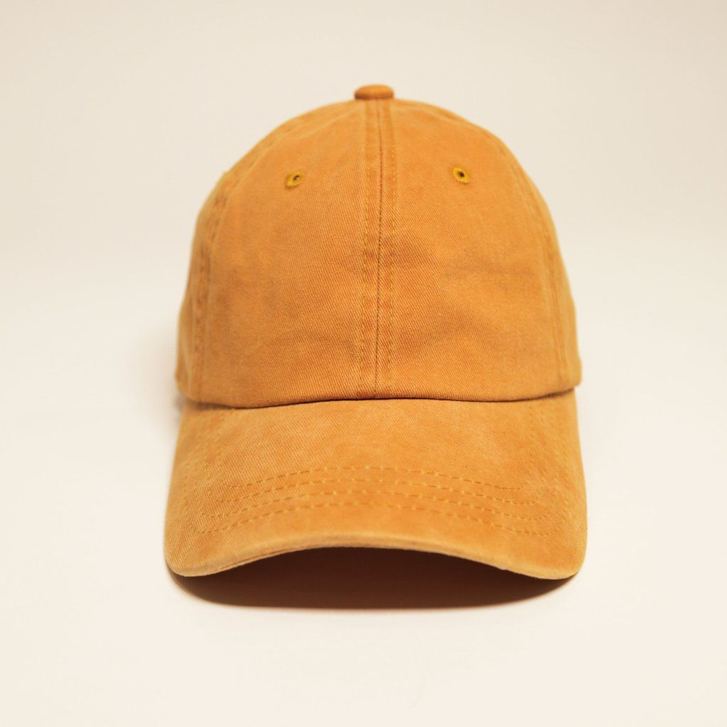8ae9706324348 Vintage Washed Mustard Dad Cap