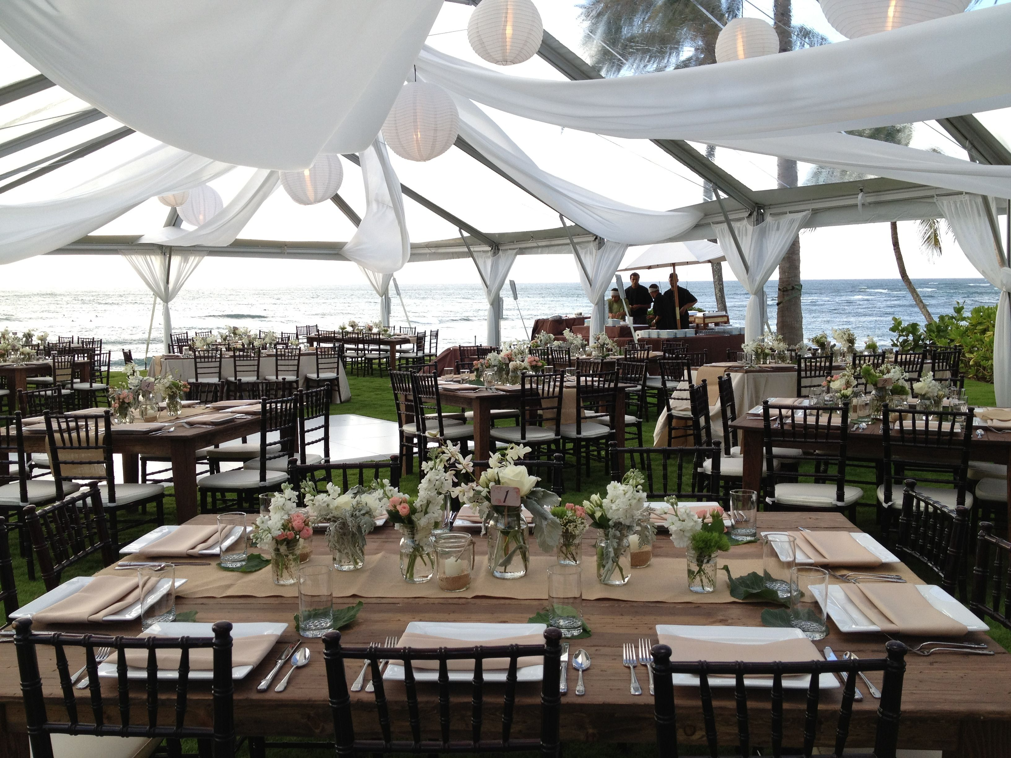 Chiavari chairs rental chicago chairs for - Clear Top Tent With Fabric Swag Liner Lanterns And Rectangle Wood Farm Tableswith Mahoghany Chivari Chairs