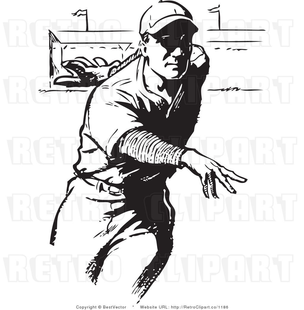 Vintage Baseball Players Clipart