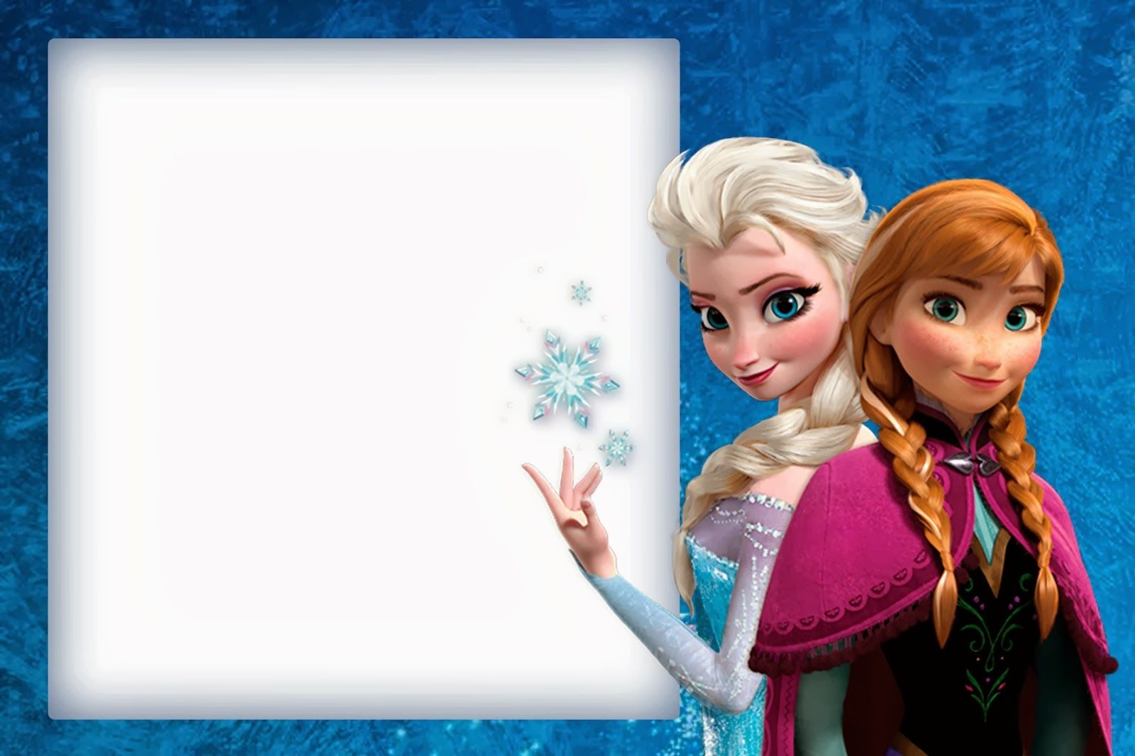Invitaciones de Frozen Gratis Bordes Pinterest Free printable