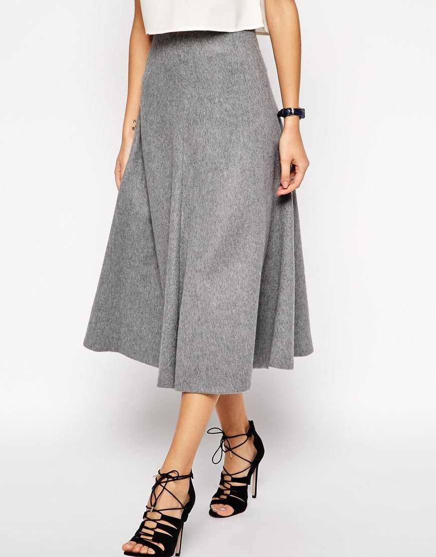 ASOS premium full A line midi // File under #cozyskirts | I could ...