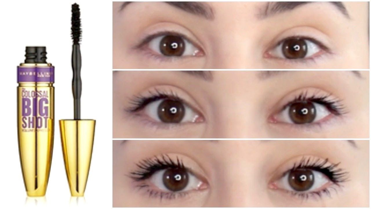 44553a87641 Maybelline The Colossal Big Shot Mascara | First Impression & Demo ...
