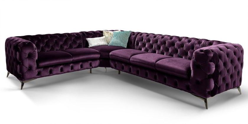 Chesterfield Ecksofa Big Emma Samt Purple Lila Xxl Designer Mobel Chesterfield Ecksofa Ecksofa Chesterfield Mobel