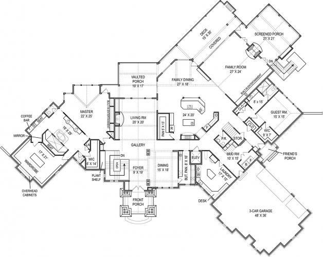 Kettle Creek Lodge House Plan Two Story Luxury Estate