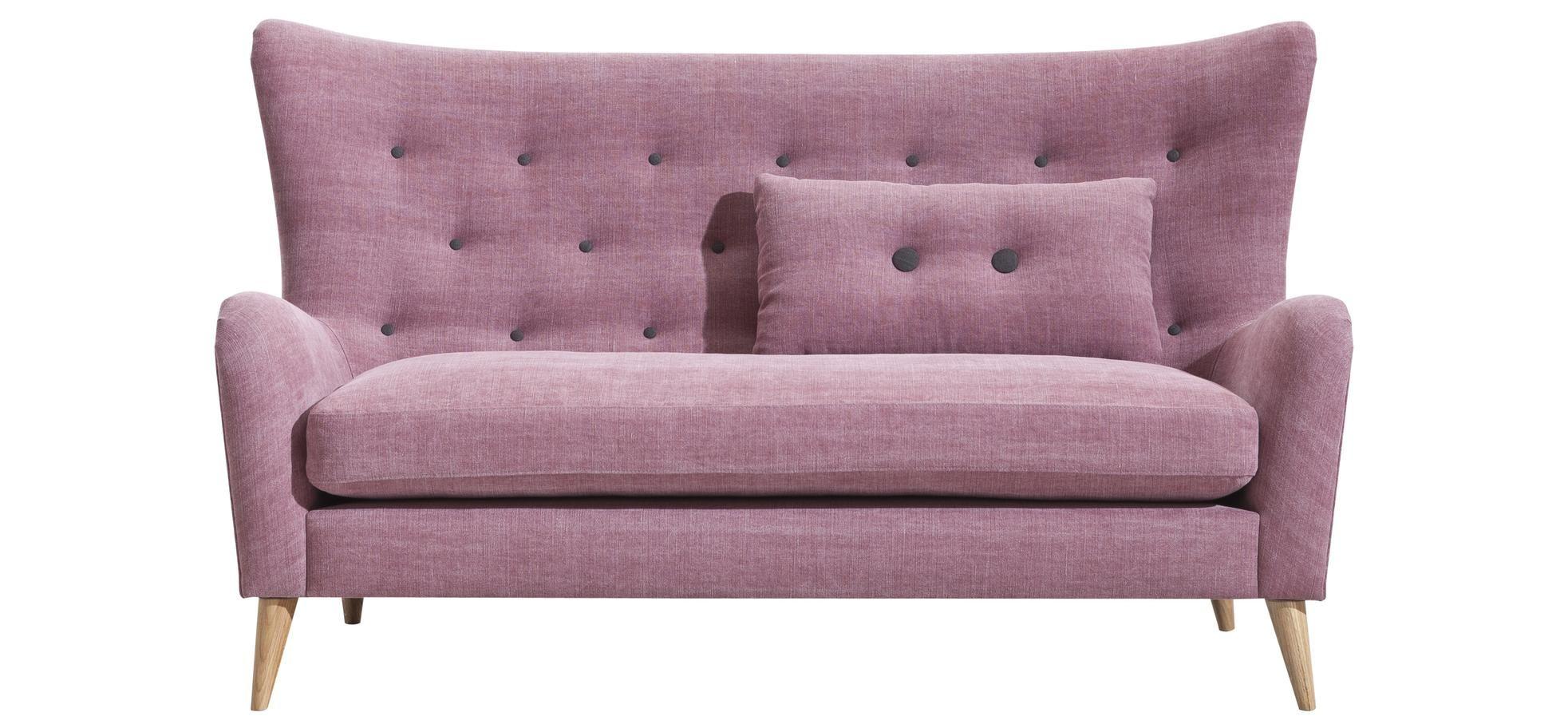 sofa natura 7030 stoffbezug zierkn pfe f e eiche ge lt abmessung ca 171x96x95 cm m bel. Black Bedroom Furniture Sets. Home Design Ideas