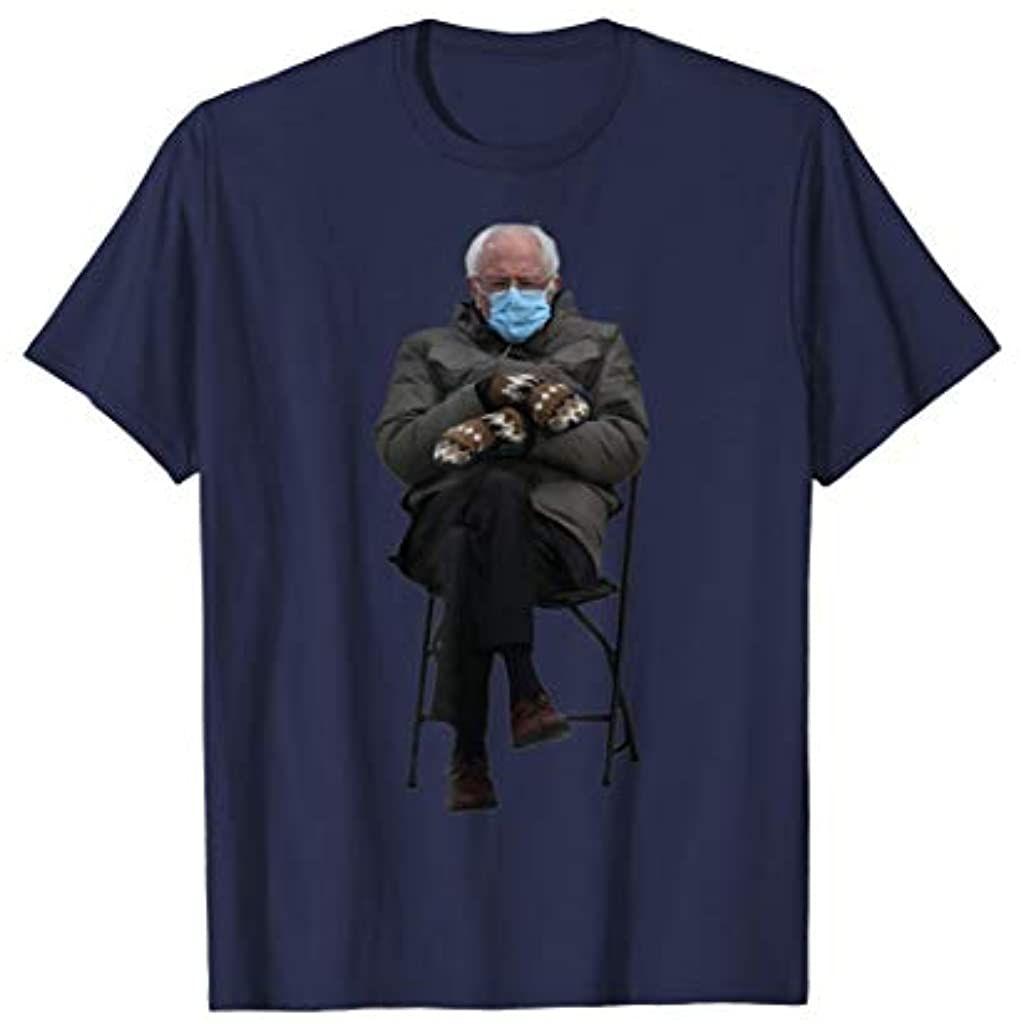 Bernie Sanders Mittens Sitting Inauguration Funny Meme T Shirt In 2021 Meme Tshirts Shirt Price Branded T Shirts