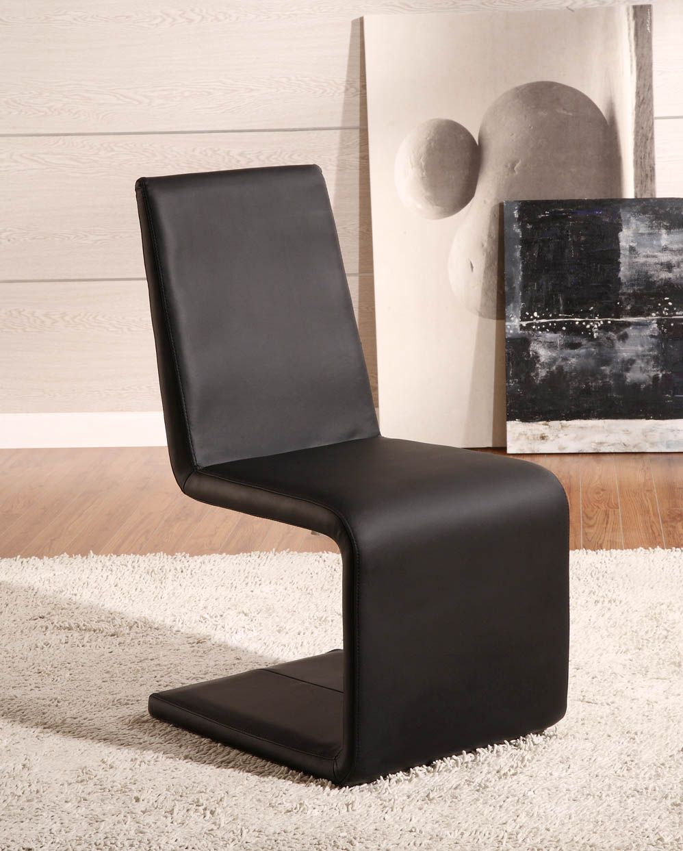 Black upholstered dining chairs - John Lewis Modern Unique Shape Armless Upholstered Dining Chair Design Feature Dark Brown Faux Leather Upholstery