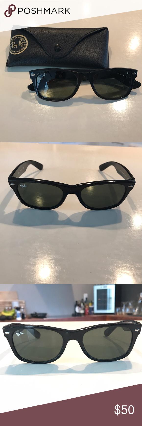 a21e7d7750 Black Ray-Ban wayfarer (small frame) sunglasses Black Ray-Ban sunglasses. Wayfarer  small frame style. Black lens and black frames. No scratching.