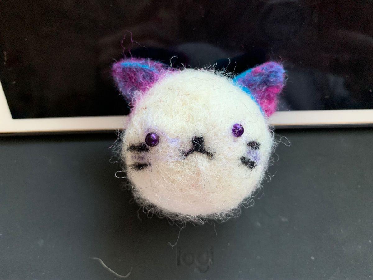 Photo of Needle felted Cat Head