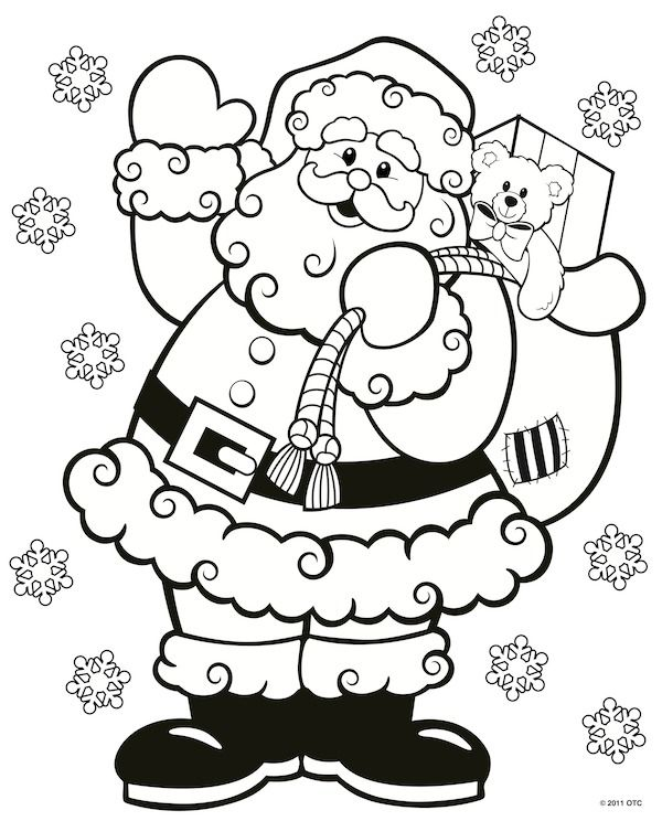 Christmas Coloring Pages | Free printable, Free and Santa