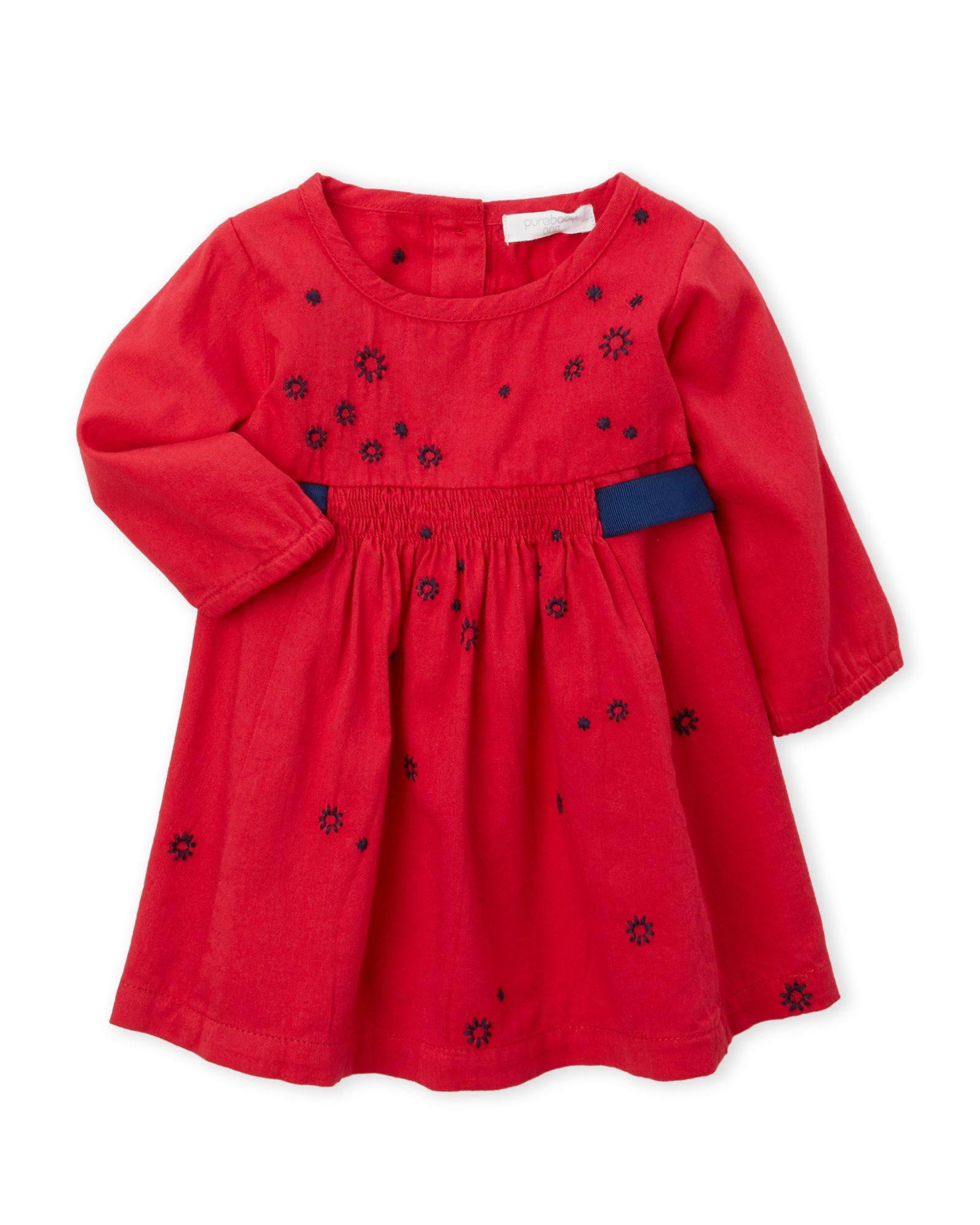 Purebaby Newborn Infant Girls Winter Sparkle Dress