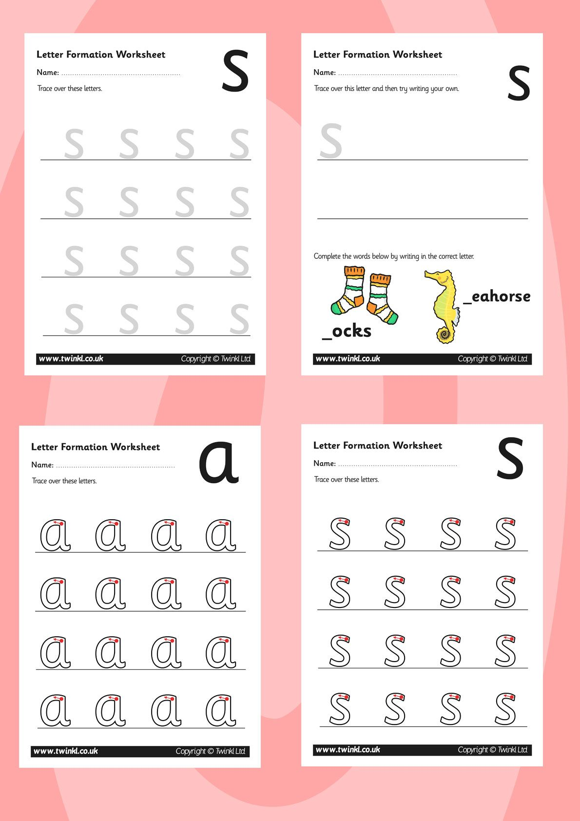 Twinkl Resources Gt Gt Phase 2 Letter Formation Worksheets Gt Gt Printable Resources For Primary Eyfs