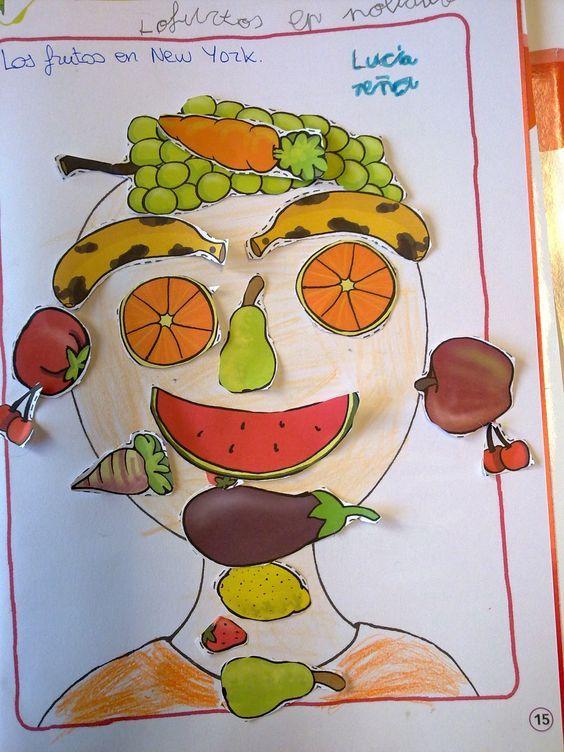 Kunstunterricht Arcimboldo Kopiervorlagen 7