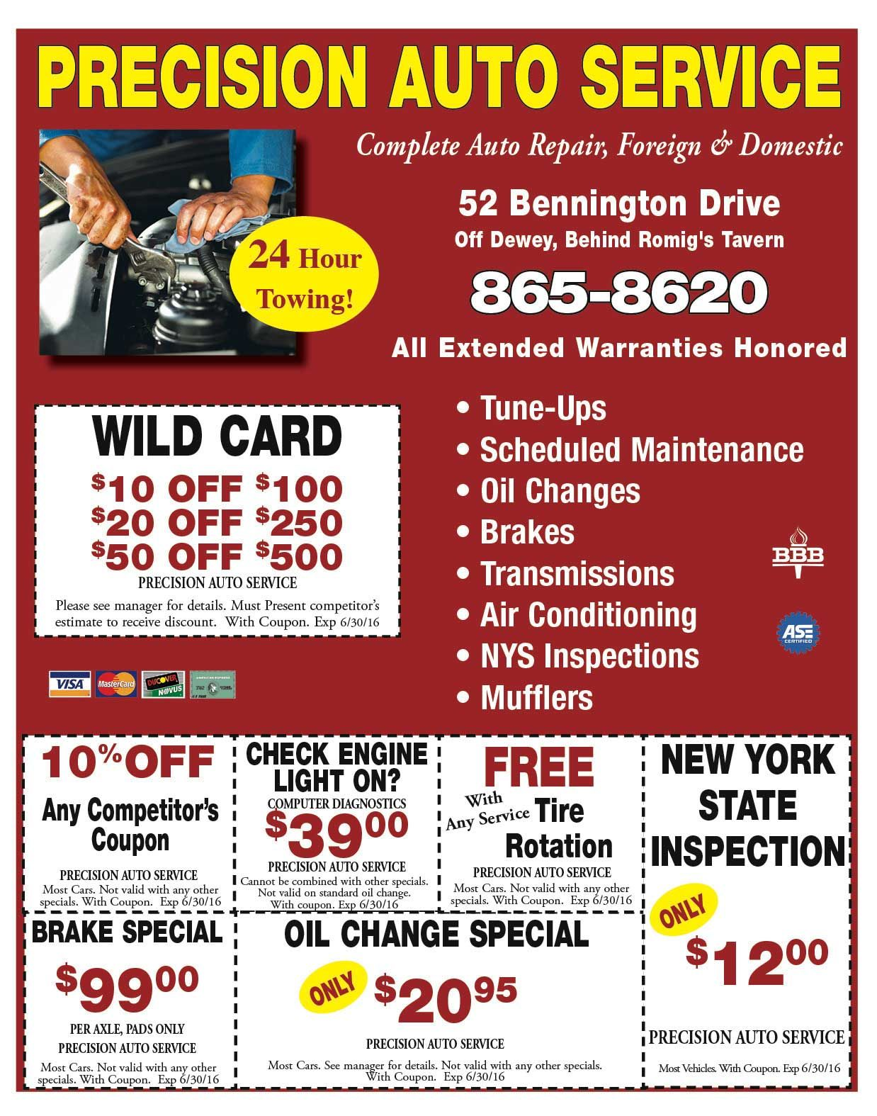 Precision Auto Service With Savings On Your Check Engine Light