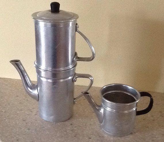 English In Italian: Italian Aluminum Flip Drip Coffee Maker