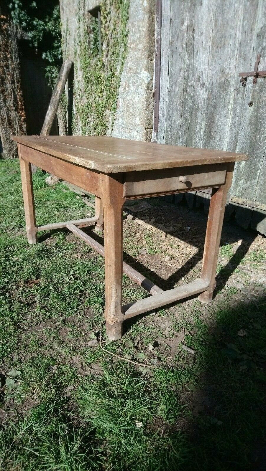French Antique Cherrywood Farmhouse Kitchen Dining Table