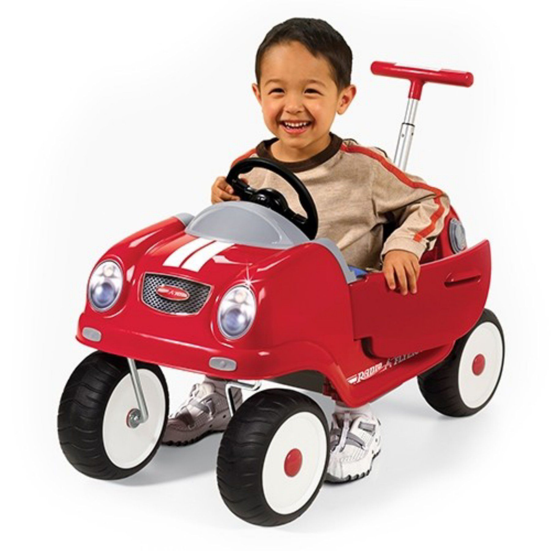 Radio Flyer Steer & Stroll Coupe Car Riding Push Toy 74A
