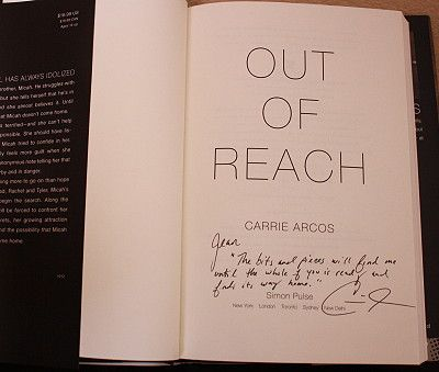 Out Of Reach By Carrie Arcos Signed Books Book Signing Books