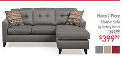 Marco 2 Piece Chaise Sofa By Factory Outlet From American Signature