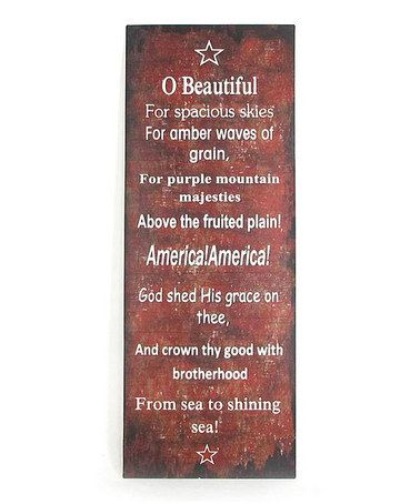 Take a look at this 'O Beautiful' Wall Plaque by Sweet Sentiments: Wall Signs on #zulily today!