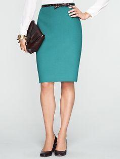 Double-Faced Wool Ruffle Skirt