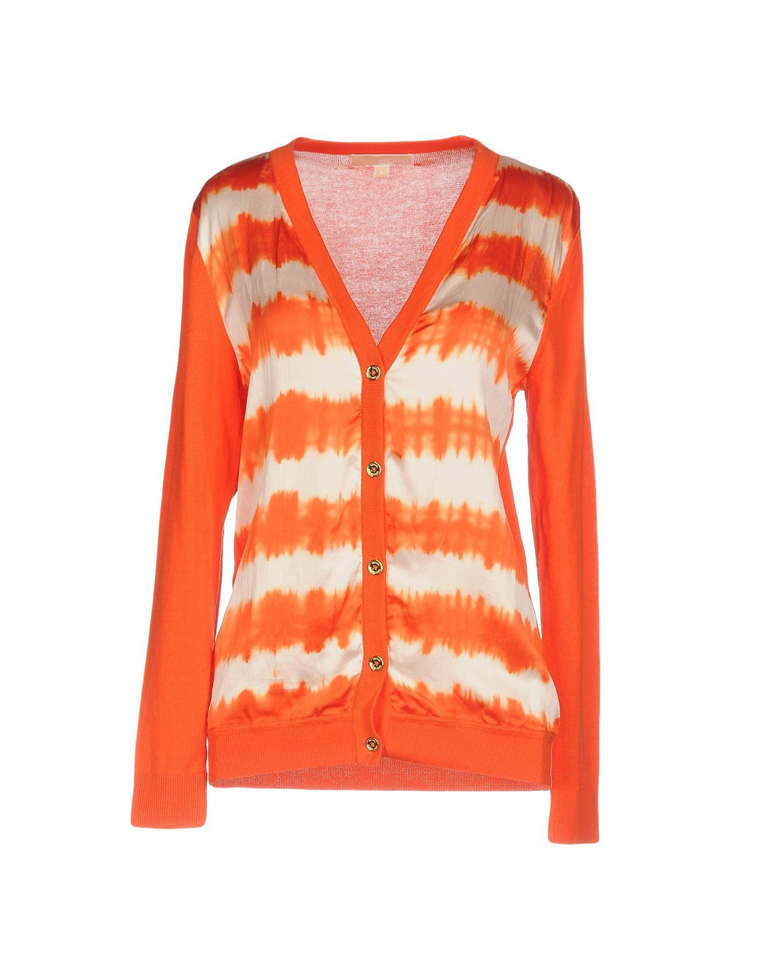 f855b9130fe7f4 MICHAEL MICHAEL KORS Damen Strickjacke6 orange - Kategorie  Damen  Bekleidung Sale Strickjacken Crepe de Chine