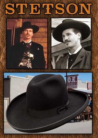 4241422e Authentic Old West Stetson 4X Sheridan Doc Holiday Style Hat ...