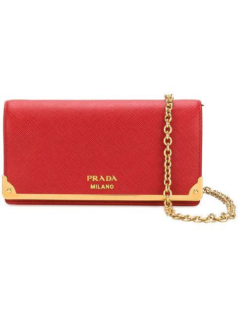 Shop Prada Saffiano wallet clutch bag  d6b8279bd7569