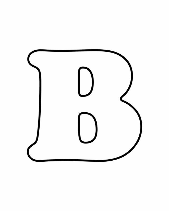 Letter B - Free Printable Coloring Pages Free Printables for Kids - copy abc coloring pages for baby shower