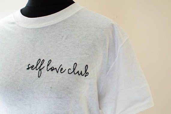 2b391ce6b411b Self Love Club Hand Embroidered Tshirt