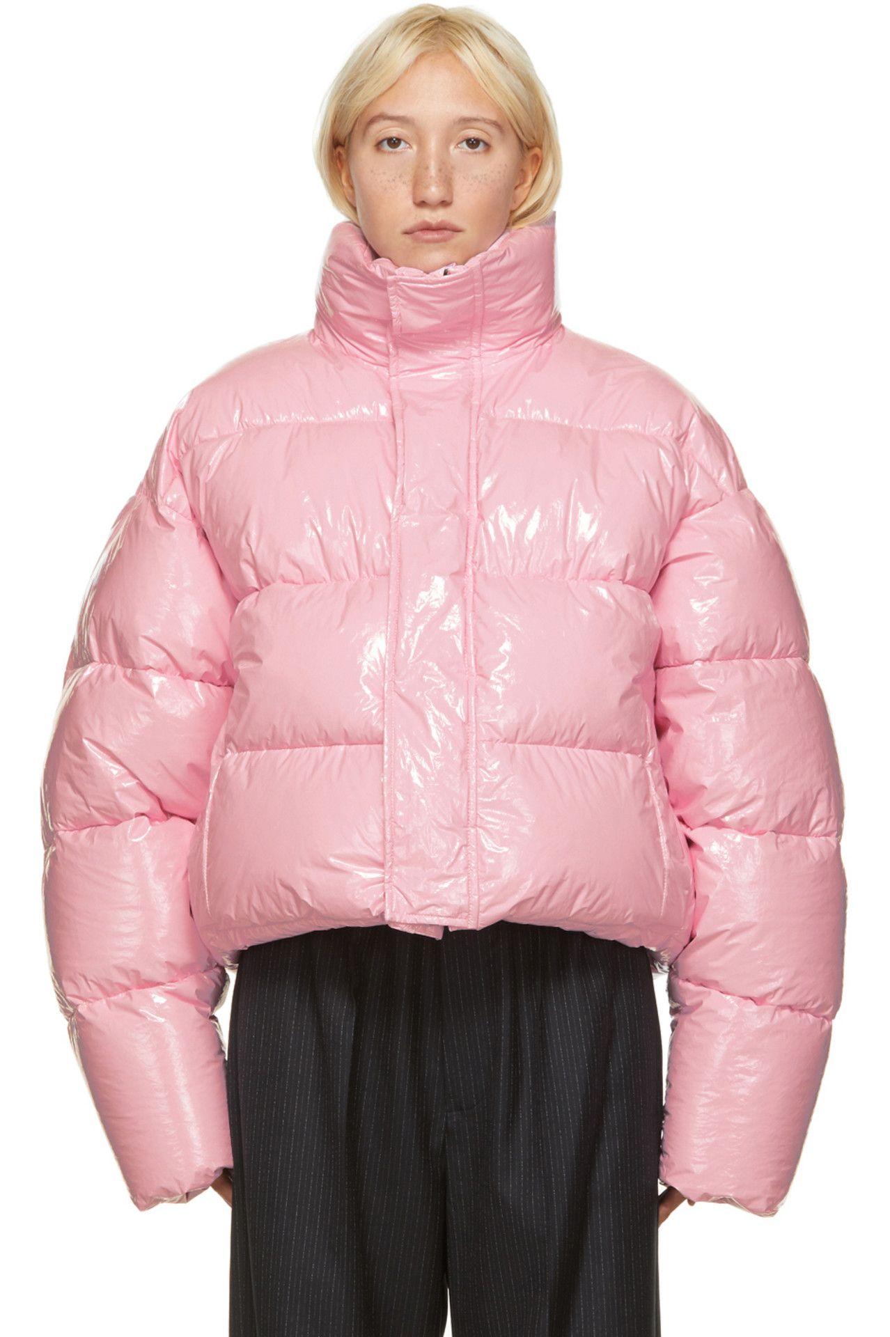 Balenciaga Pink Shiny Cropped Puffer Jacket Ssense Balenciaga Clothing Cropped Puffer Jacket Balenciaga [ 1920 x 1278 Pixel ]