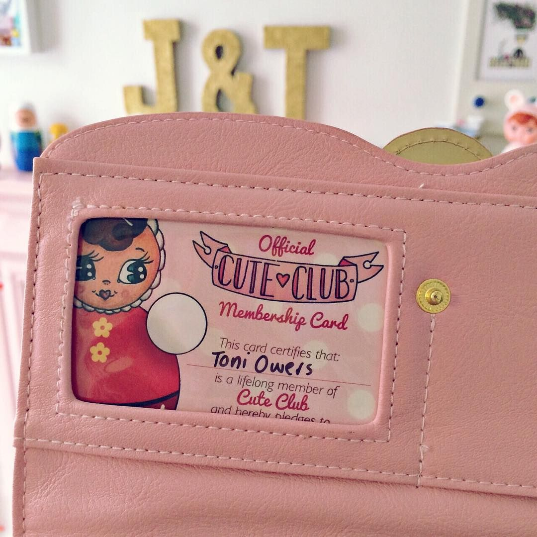 """Finally have a cutie pie spot in my purse for my official cute club membership card from @jesreeves12! ✨✨ #cuteclub #rolypoly #abmathome #kawaii #kitsch…"""