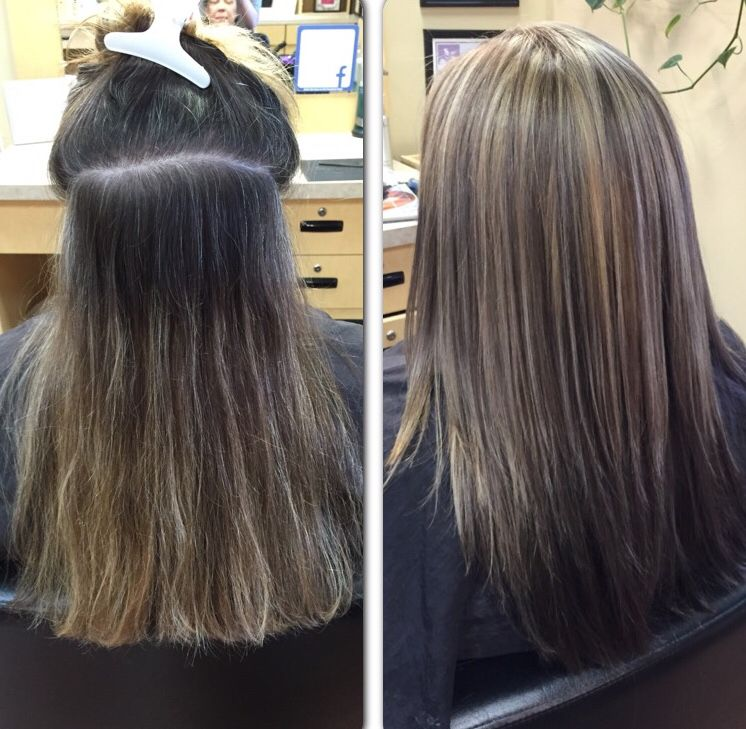 A Great Way To Help Blend Grey Roots Is By Adding Some Highlights To