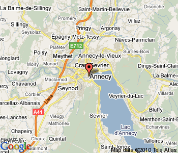 Annecy France Map